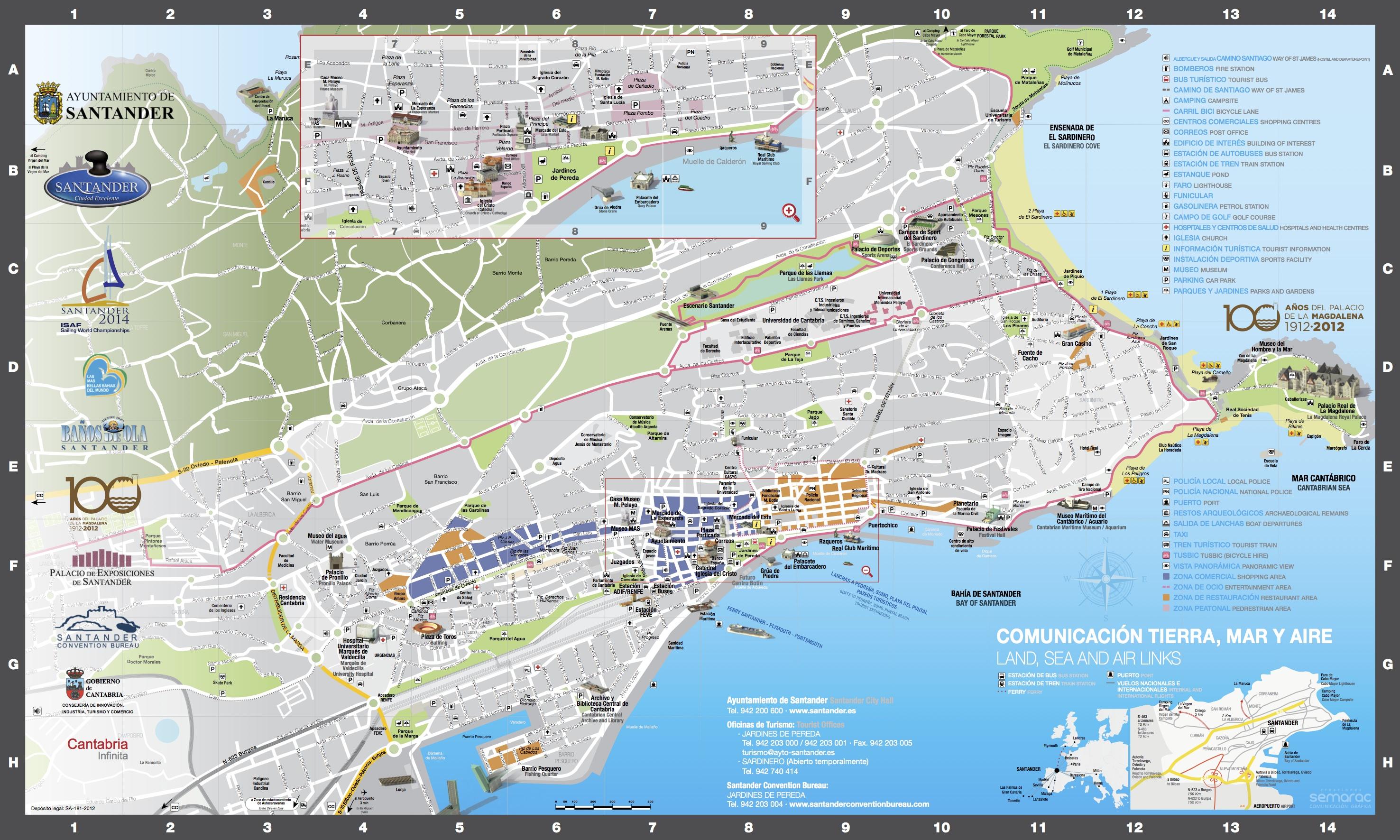 Pin mapas turisticos on pinterest for Mapa santander sucursales